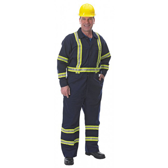 7 oz. FR Cotton Coveralls with Reflective Trim
