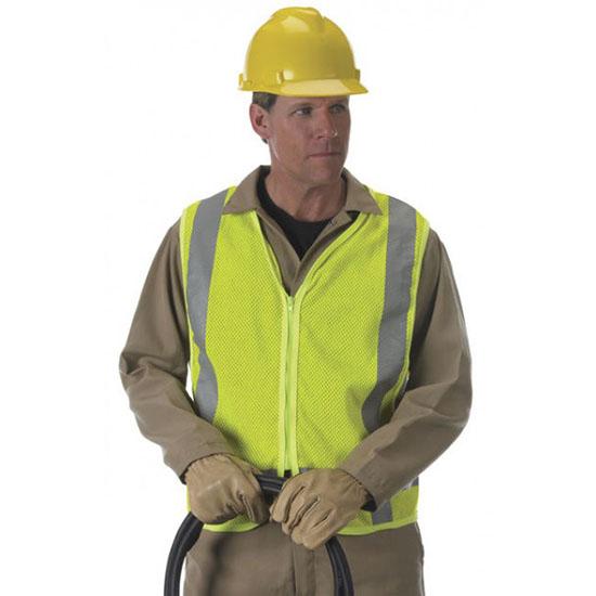 Class 2 FR/ARC Mesh Vest – Adjustable snap sides with non-conductive zipper